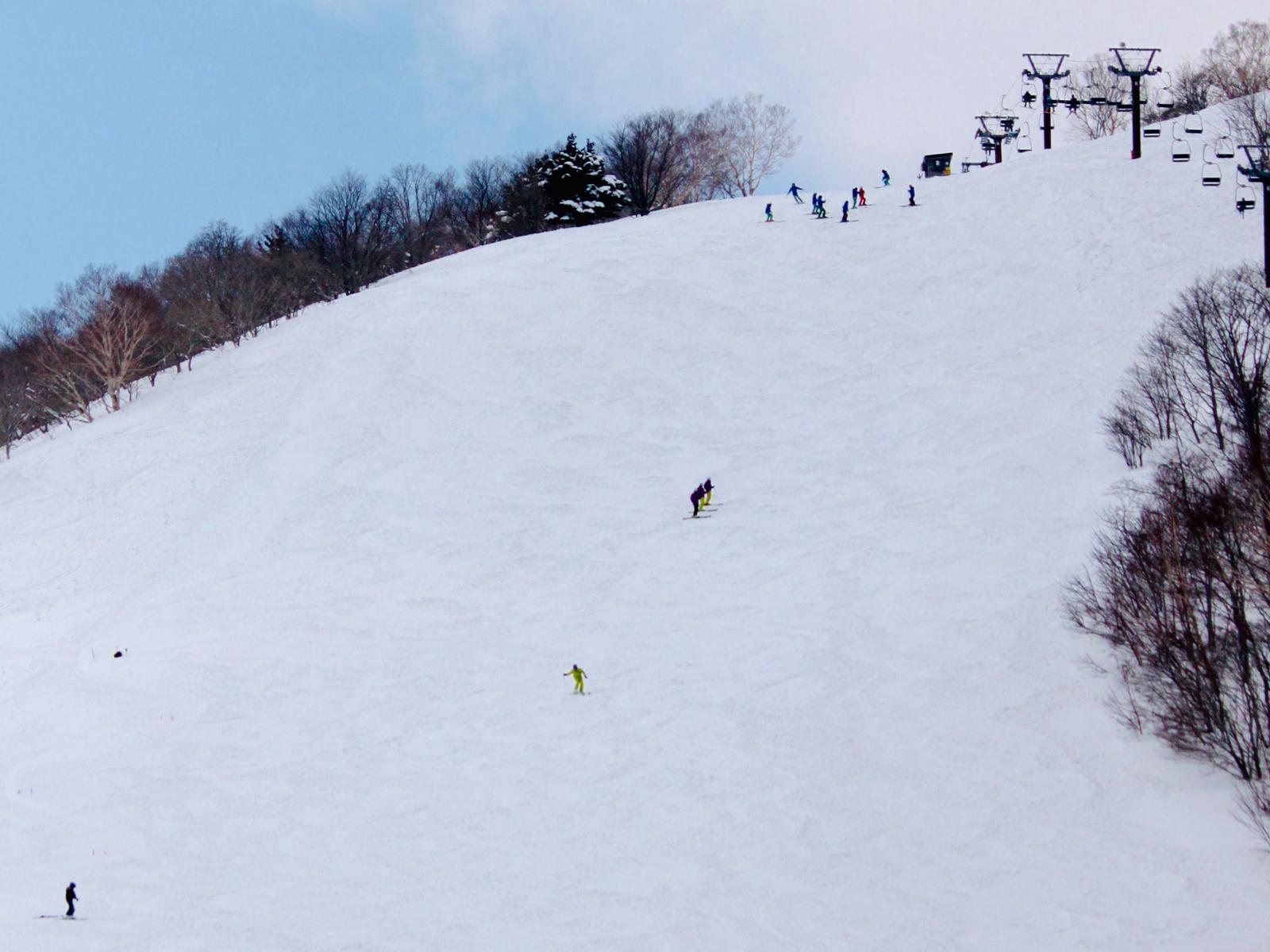 県内随一の圧雪斜面Bコース